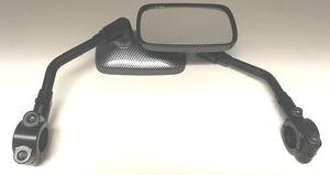 2019 Can-Am Ryker Parts & Accessories Aluminum Black Carbon Fiber Style Mirrors RYK-MIR-3