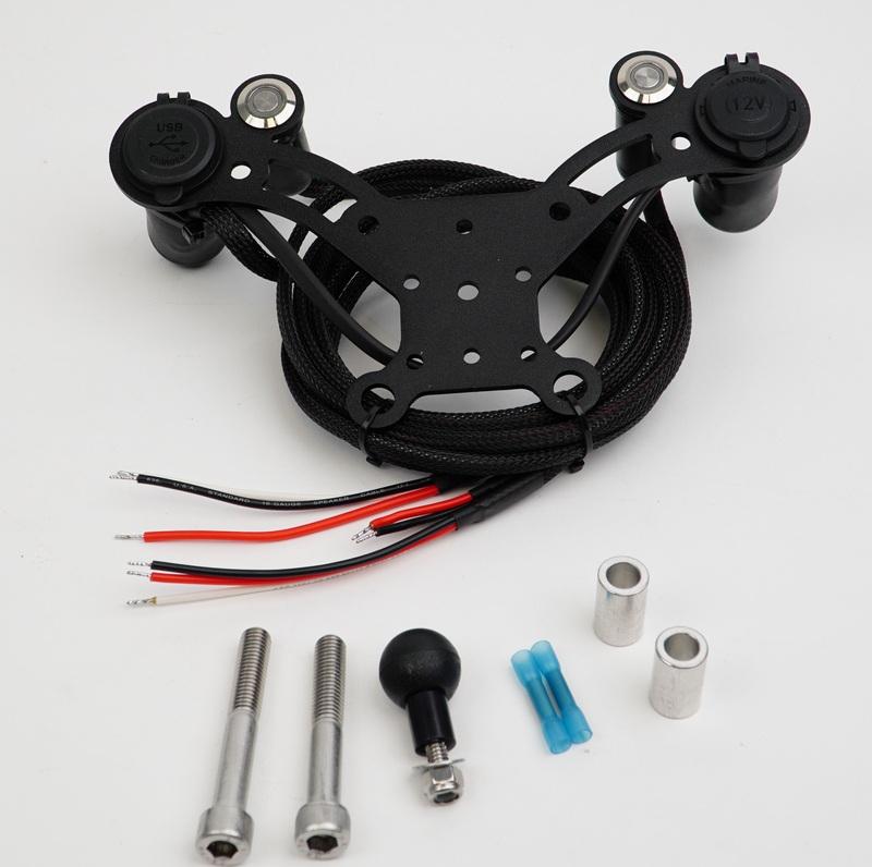 CAN-AM SPYDER 12 VOLT DOCKING STATION SRT-1U12S (1-USB, 1-12 Volt)